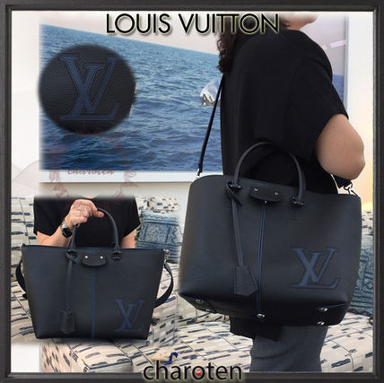 Louis Vuitton Unisex Calfskin A4 3WAY Bi-color Plain Totes