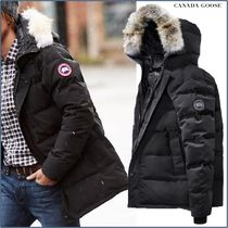 CANADA GOOSE CARSON Short Fur Blended Fabrics Plain Down Jackets