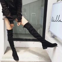 Suede Plain Over-the-Knee Boots