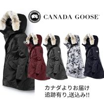 CANADA GOOSE ROSSCLAIR Fur Plain Medium Down Jackets