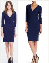DIANE von FURSTENBERG Tight Cropped Plain Medium Elegant Style Dresses