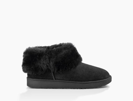UGG Australia Ankle & Booties Round Toe Rubber Sole Casual Style Sheepskin Plain 2