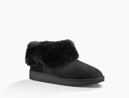 UGG Australia Ankle & Booties Round Toe Rubber Sole Casual Style Sheepskin Plain 3