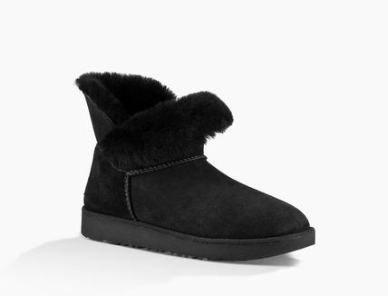 UGG Australia Ankle & Booties Round Toe Rubber Sole Casual Style Sheepskin Plain 4