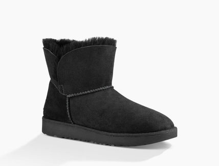 UGG Australia Ankle & Booties Round Toe Rubber Sole Casual Style Sheepskin Plain 5