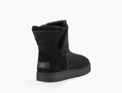 UGG Australia Ankle & Booties Round Toe Rubber Sole Casual Style Sheepskin Plain 6