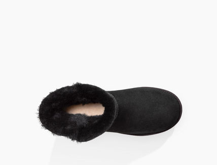 UGG Australia Ankle & Booties Round Toe Rubber Sole Casual Style Sheepskin Plain 7