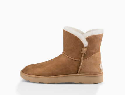 UGG Australia Ankle & Booties Round Toe Rubber Sole Casual Style Sheepskin Plain 16