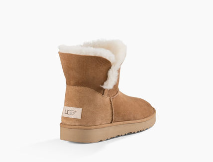 UGG Australia Ankle & Booties Round Toe Rubber Sole Casual Style Sheepskin Plain 17