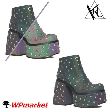 Star Casual Style Street Style Block Heels High Heel Boots