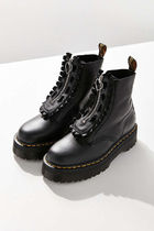 Dr Martens Plain Toe Casual Style Street Style Plain Leather