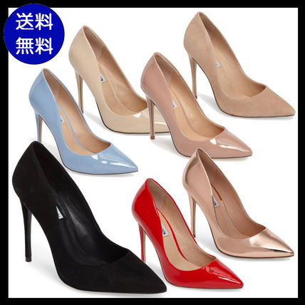 Plain Leather Pin Heels Party Style
