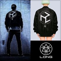 LONG CLOTHING Unisex Plain MA-1 Bomber Jackets