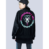 LONG CLOTHING Unisex Collaboration Medium Varsity Jackets