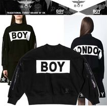 BOY LONDON Studded Long Sleeves Cotton Medium High-Neck