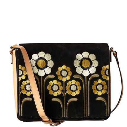 Orla Kiely Flower Patterns Leather Shoulder Bags