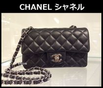 CHANEL MATELASSE Black/SHW Lambskin Classic Flap Mini Rectangular Flap Bag
