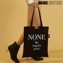 BASIC COTTON Unisex Shoppers