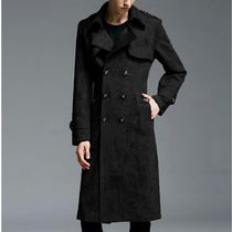 Glen Patterns Long Trench Coats