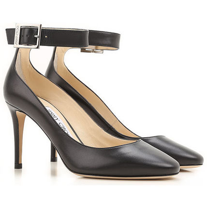 Jimmy Choo Plain Leather Pin Heels Stiletto Pumps & Mules
