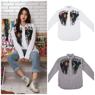 Casual Style Unisex Long Sleeves Cotton Shirts & Blouses