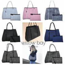 willow bay Gingham Plain Totes