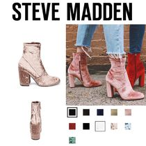 Steve Madden Plain Elegant Style Ankle & Booties Boots