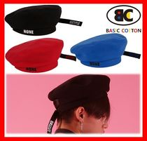 BASIC COTTON Unisex Wide-brimmed Hats
