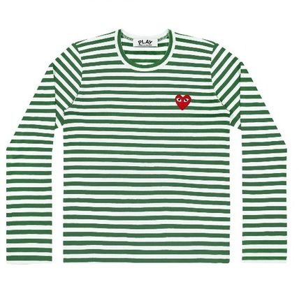 COMME des GARCONS Long Sleeve Heart Unisex Street Style U-Neck Long Sleeves Cotton 5