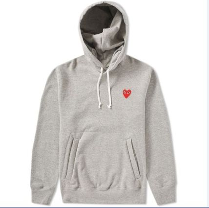 COMME des GARCONS Hoodies Pullovers Heart Unisex Street Style Long Sleeves Plain 2