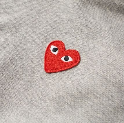 COMME des GARCONS Hoodies Pullovers Heart Unisex Street Style Long Sleeves Plain 9