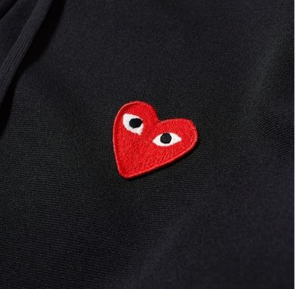 COMME des GARCONS Hoodies Pullovers Heart Unisex Street Style Long Sleeves Plain 8