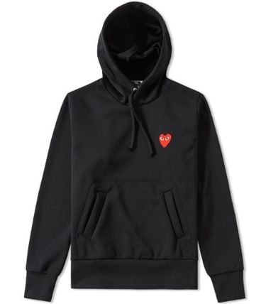 COMME des GARCONS Hoodies Pullovers Heart Unisex Street Style Long Sleeves Plain 3