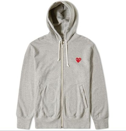 COMME des GARCONS Hoodies Pullovers Heart Unisex Street Style Long Sleeves Plain 4