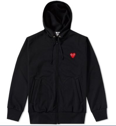 COMME des GARCONS Hoodies Pullovers Heart Unisex Street Style Long Sleeves Plain 5