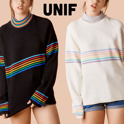 UNIF Clothing Stripes Casual Style Street Style Long Sleeves Sweaters