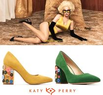 Katy Perry Casual Style Suede Street Style Plain Block Heels