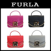 FURLA METROPOLIS Casual Style Leather Shoulder Bags