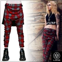 LONG CLOTHING Tartan Unisex Sarouel Pants