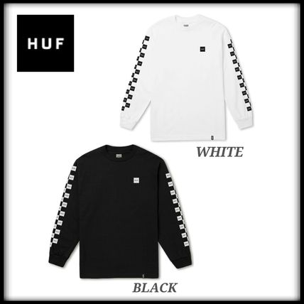 HUF Crew Neck Other Check Patterns Unisex Long Sleeves Cotton