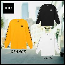 HUF Crew Neck Other Check Patterns Unisex Street Style