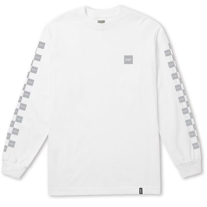 HUF Long Sleeve Crew Neck Other Check Patterns Unisex Street Style 2