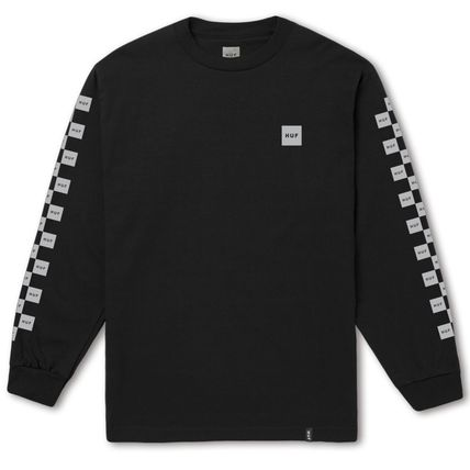 HUF Long Sleeve Crew Neck Other Check Patterns Unisex Street Style 3