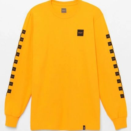 HUF Long Sleeve Crew Neck Other Check Patterns Unisex Street Style 4