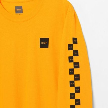 HUF Long Sleeve Crew Neck Other Check Patterns Unisex Street Style 5