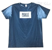 PIGALLE Crew Neck Street Style Cotton Short Sleeves