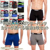 PUMA Plain Cotton Boxer Briefs