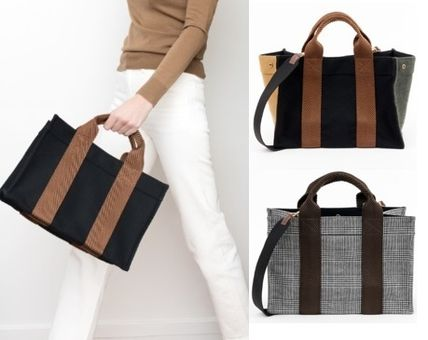 Casual Style A4 2WAY Totes