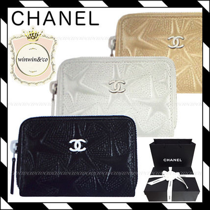 CHANEL ICON Star Lambskin Coin Purses
