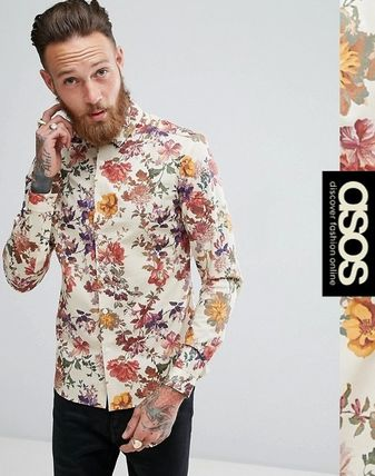 ASOS Flower Patterns Long Sleeves Shirts